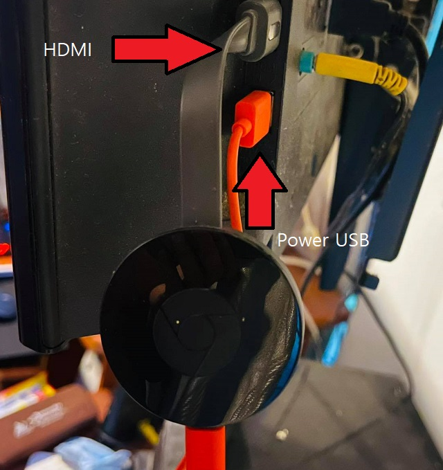 Connect Chromecast to the HDMI port of your TV