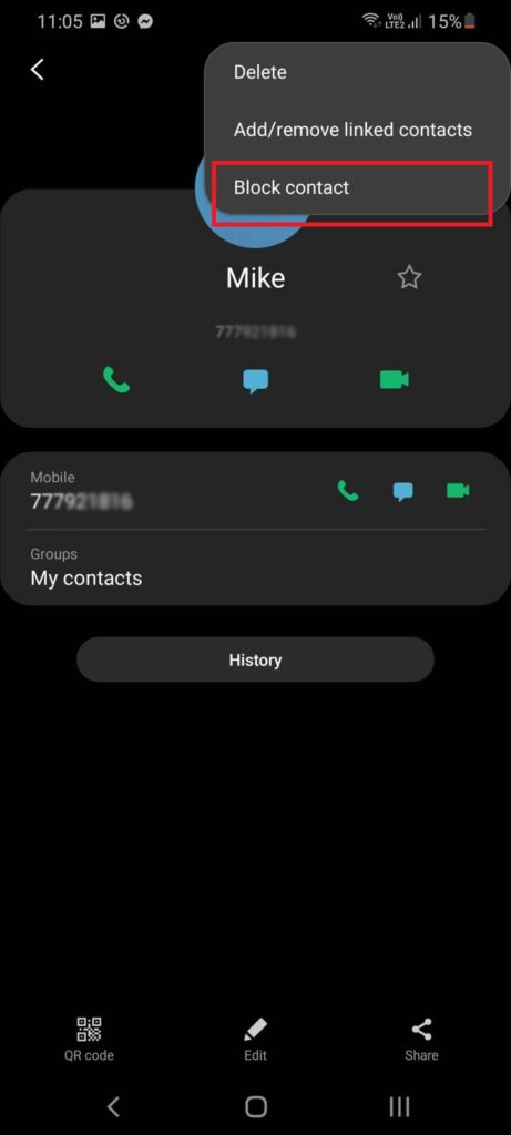 How block unknown numbers on Samsung