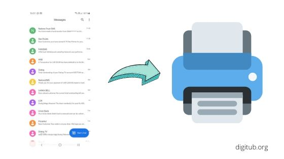 How to Print Text Messages from Android Device
