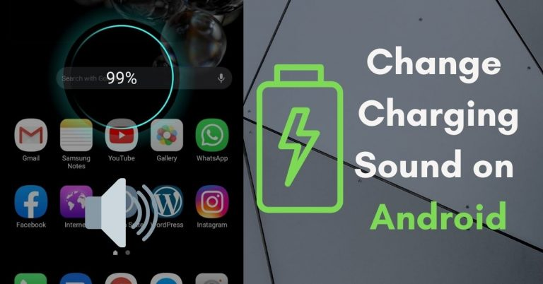 Change Charging Sound Android Phone