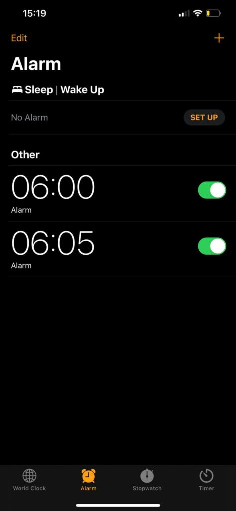 change iphone snooze time