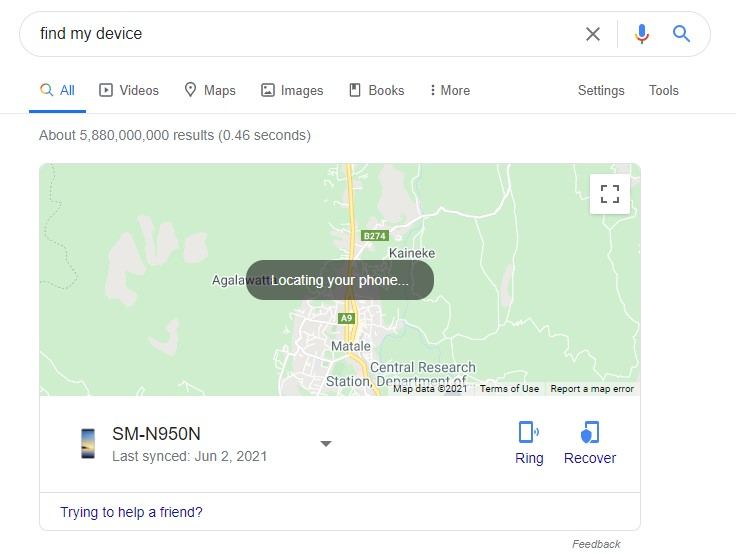 How can I track my lost Android phone