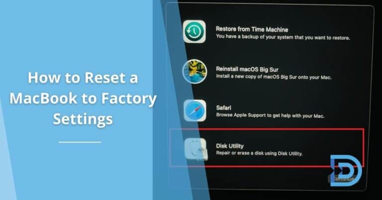 How to Reset a MacBook to Factory Settings