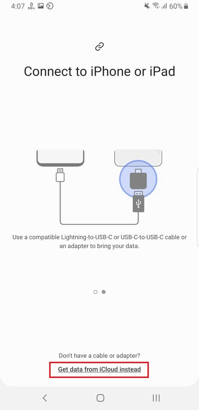 Transfer data wirelessly - samsung to iphone