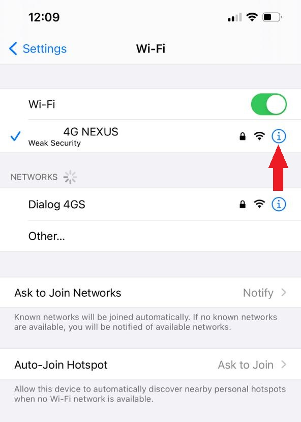 view saved Wi-Fi passwords on iPhone using router settings (3)